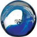 Deep Etched Wave Glass Award