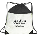 Sling & string clear backpacks. Clear PVC with mesh. Use for gym clothes or events