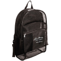Mesh backpacks with  solid back / solid front pocket