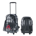 Clear rolling backpacks in bulk only
