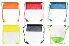 Sling & string clear backpacks