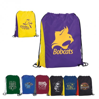 Drawstring solid school backpacks