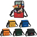 Custom printed 6-Can Lunch Coolers, polyester