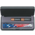 American Flag Mini Maglite with case