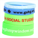 Be seen with these silicone glow in the dark wrist bands.