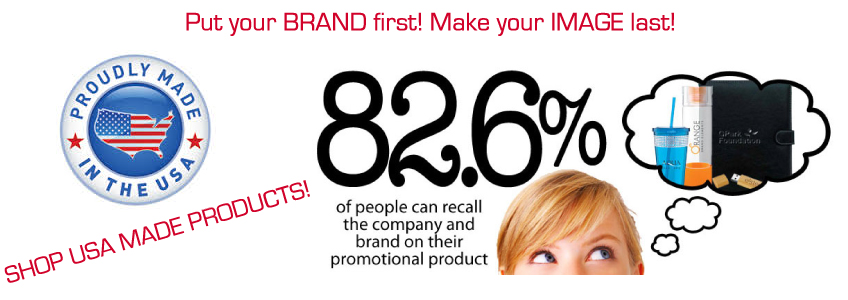 Custom imprinted USA Made Promotional Products.