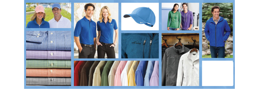 Custom Printed apparel, t shirs, Polos, dress shirt embroidered with your logo