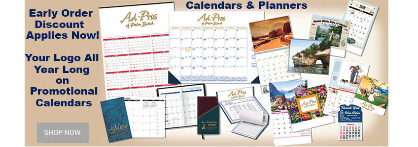Save now with early order discount on 2020 promo calendars.