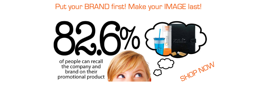 82.6% of people can recall the company and brand on their promotional product.
