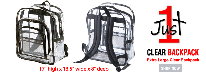 Clear Backpacks Just 1 Piece
