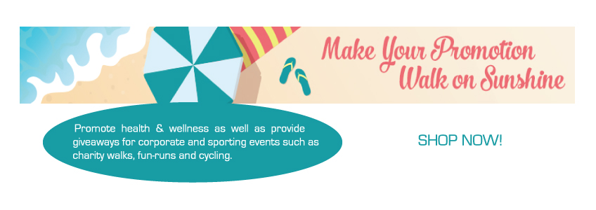 Custom Printed Fitness Promotional Products.