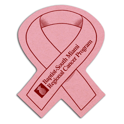 Awareness Ribbon Shape Compressed Sponge.