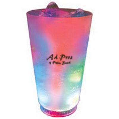 USA made 16 oz. Acrylic 3 Light, Light-Up Pint Tumbler
