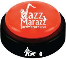"No more guessing when your pet has to go outside. They simply tap the Jazz Marazz and the product sings, ""Let me out, oh won't you let me out."""