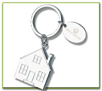 Custom Printed House Shape Key Tags