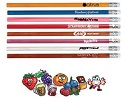 Scented pencils, orange color is citrus splash scent, blue is berry, pink is bubble gum, red is strawberry, brown is root beer, purple is grape, white is peppermint and dark brown is chocolate.