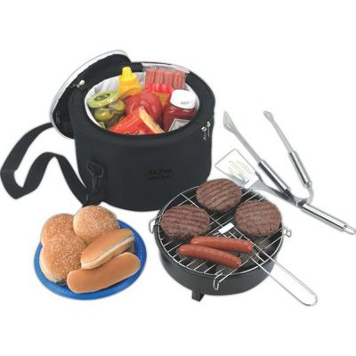Koozie Portable BBQ w/ Cooler Bag